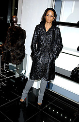 Actress and model VERONICA WEBB at a party hosted by Versace during London Fashion Week 2005 at their store in Slaone Street, London on 19th September 2005.<br /><br />NON EXCLUSIVE - WORLD RIGHTS