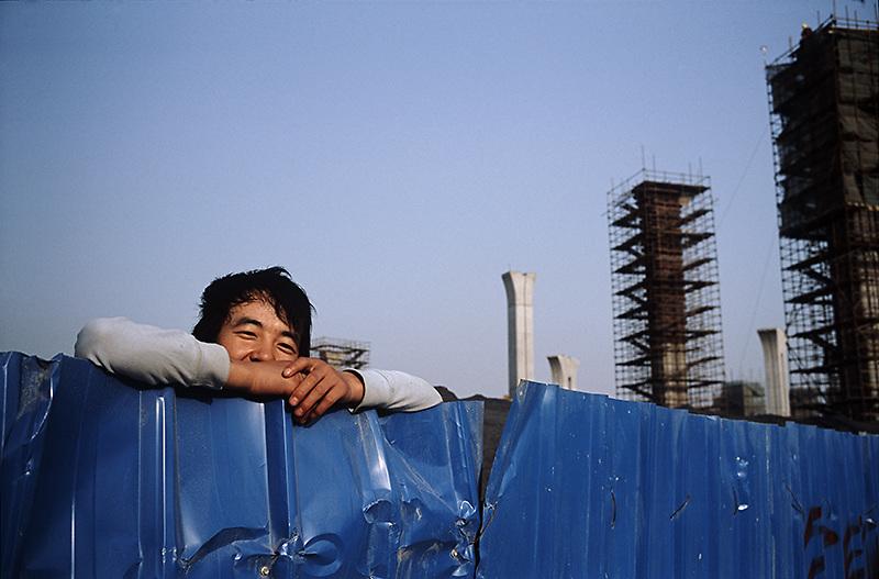 Construction worker. Shanghai, China 2008