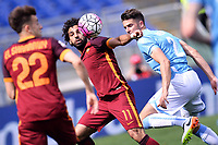 Mohamed Salah Roma, Wesley Hoedt Lazio <br /> Roma 03-04-2016 Stadio Olimpico Football Calcio Serie A 2015/2016 Lazio - AS Roma Foto Andrea Staccioli / Insidefoto