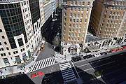 Handelsblatt US Roadshow.<br /> At the Representative of German Industry and Trade RGIT of in Washington DC.<br /> A view down onto washington D.C.'s Connecticut Avenue.<br /> <br /> Gabor Steingart, CEO of the Handelsblatt Publishing Group is in the US to introduce the english language Handelsblatt Global Edition.