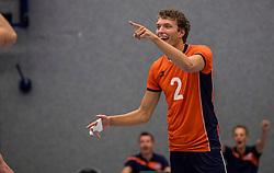 28-08-2016 NED: Nederland - Slowakije, Nieuwegein<br /> Het Nederlands team heeft de oefencampagne tegen Slowakije met een derde overwinning op rij afgesloten. In een uitverkocht Sportcomplex Merwestein won Nederland met 3-0 van Slowakije / Wessel Keemink #2