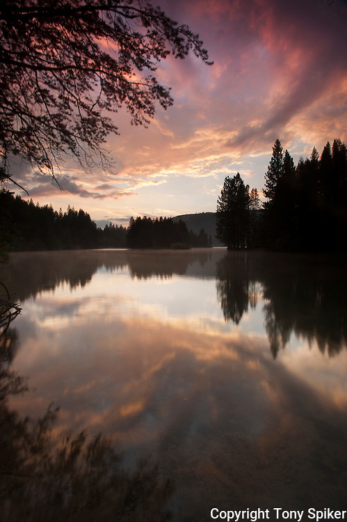 """Donner Lake Sunset 5"" - A landscape photograph of sunset at Donner Lake"