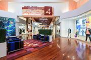 Tsawwassen Mills Mall Interior court area showcasing transitional design between Retail Districts