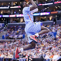 06 April 2014: Los Angeles Clippers guard Darren Collison (2) goes for the dunk during the Los Angeles Clippers 120-97 victory over the Los Angeles Lakers at the Staples Center, Los Angeles, California, USA.