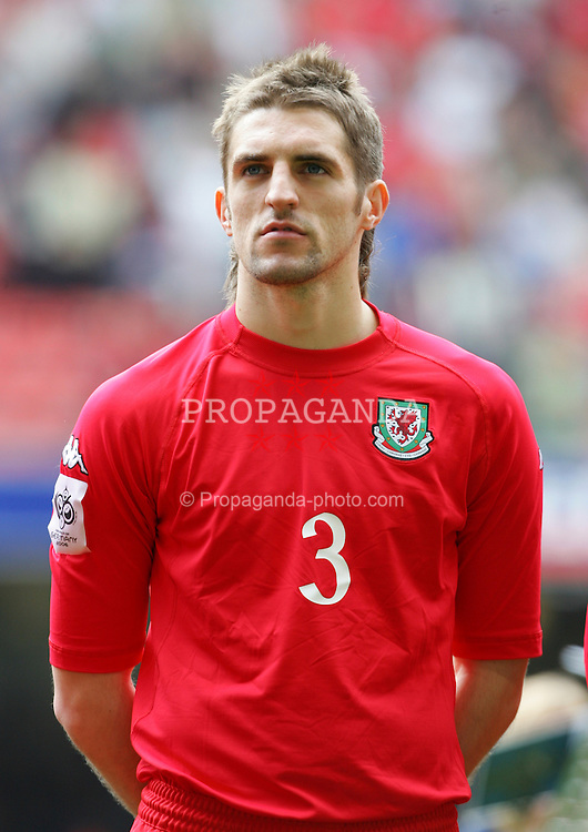 CARDIFF, WALES - SATURDAY MARCH 26th 2005: Wales' Sam Ricketts lines up before the Wold Cup Qualifying match against Austria at the Millennium Stadium. (Pic by David Rawcliffe/Propaganda)