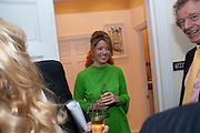 PETRONELLA WYATT, Mrs. Richard Briggs at home.  Sloane Gardens. London. 20 October 2011. <br /> <br />  , -DO NOT ARCHIVE-© Copyright Photograph by Dafydd Jones. 248 Clapham Rd. London SW9 0PZ. Tel 0207 820 0771. www.dafjones.com.