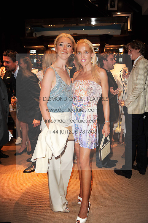 Left to right, TAMARA BECKWITH and her sister CLARE VAN DAM at the Ralph Lauren Wimbledon Party held at Ralph Lauren, 1 New Bond Street, London on 17th June 2010.