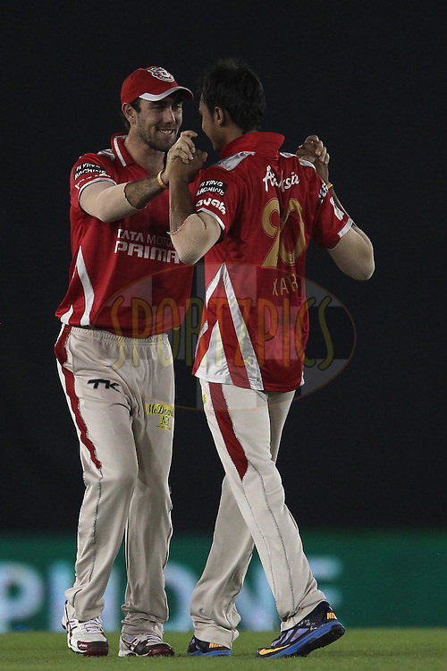during match 2 of the Oppo Champions League Twenty20 between the Kings XI Punjab and the Hobart Hurricanes held at the Punjab Cricket Association Stadium, Mohali, India on the 18th September 2014<br /> <br /> Photo by:  Ron Gaunt / Sportzpics/ CLT20<br /> <br /> <br /> Image use is subject to the terms and conditions as laid out by the BCCI/ CLT20.  The terms and conditions can be downloaded here:<br /> <br /> http://sportzpics.photoshelter.com/gallery/CLT20-Image-Terms-and-Conditions-2014/G0000IfNJn535VPU/C0000QhhKadWcjYs