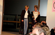 Jan Scott and Sue Bonham, Chester Bonham couture fashion show. Park Lane. 15 November 2004. ONE TIME USE ONLY - DO NOT ARCHIVE  © Copyright Photograph by Dafydd Jones 66 Stockwell Park Rd. London SW9 0DA Tel 020 7733 0108 www.dafjones.com