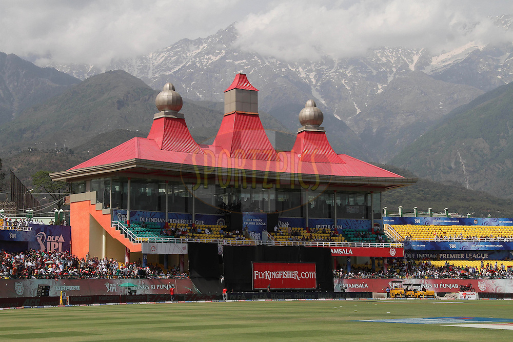 GV during match 67 of the Indian Premier League ( IPL ) Season 4 between the Kings XI Punjab and the Deccan Chargers held at the The HPCA Stadium in Dharamsala, Himachal Pradesh, India on the 21st May 2011..Photo by Shaun Roy/BCCI/SPORTZPICS