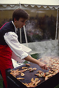 Shrimp on the barbie, Australia (editorial use only, no model release)<br />