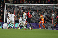 Football - 2017 / 2018 EFL Carabao (League) Cup - Fourth Round : AFC Bournemouth vs. Norwich City<br /> <br /> Bournemouth's Steve Cook (out of shot) fires through a crowd of players to score at the Vitality Stadium (Dean Court) Bournemouth <br /> <br /> COLORSPORT/SHAUN BOGGUST