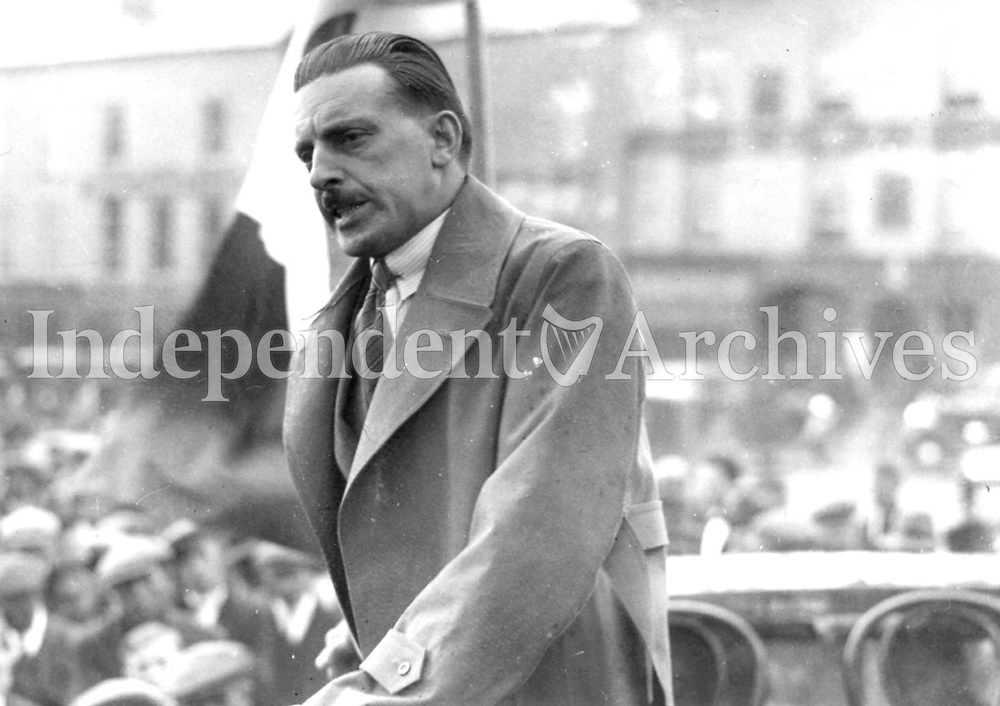 Sean Lemass at a rally in the 1970's  <br /> (Part of the Independent Newspapers Ireland/NLI Collection)