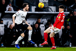 Scott Malone of Derby County takes on Joe Lolley of Nottingham Forest - Mandatory by-line: Robbie Stephenson/JMP - 17/12/2018 - FOOTBALL - Pride Park Stadium - Derby, England - Derby County v Nottingham Forest - Sky Bet Championship