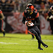 10 November 2018: San Diego State Aztecs wide receiver Tim Wilson Jr. (6) catches a pass for a first down in the first quarter. The Aztecs lost 27-24 to UNLV Saturday night at SDCCU Stadium falling a game behind Fresno State in the conference standings.