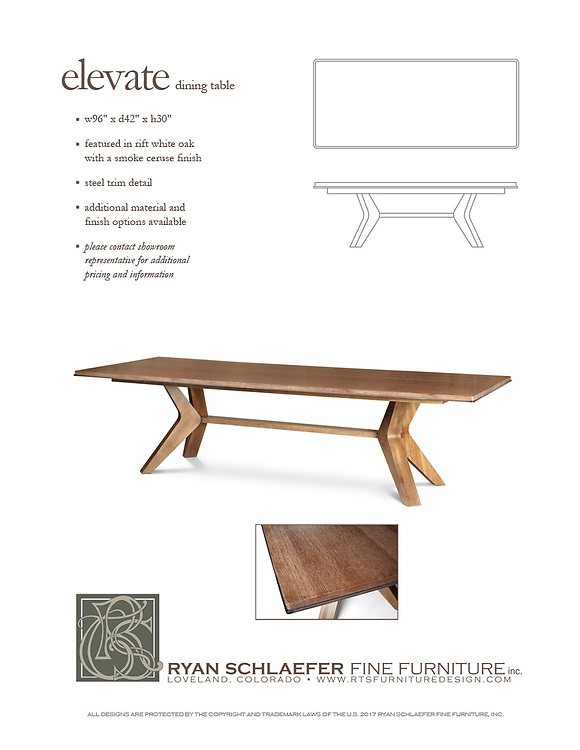 Ryan Schlaefer Fine Furniture Tear Sheet photo by Aspen Photo and Design