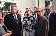 VENICE, ITALY..June 1993..45th Biennale of Venice.Austrian Pavillion opening party..From l.: Ursula Pasterk, Chancellor Franz Vranitzky, Peter Weibel, C.P. Mu?ller, Josef Scholten, Gerwald Rockenschaub, Vice Chancellor Erhard Busek..(Photo by Heimo Aga)