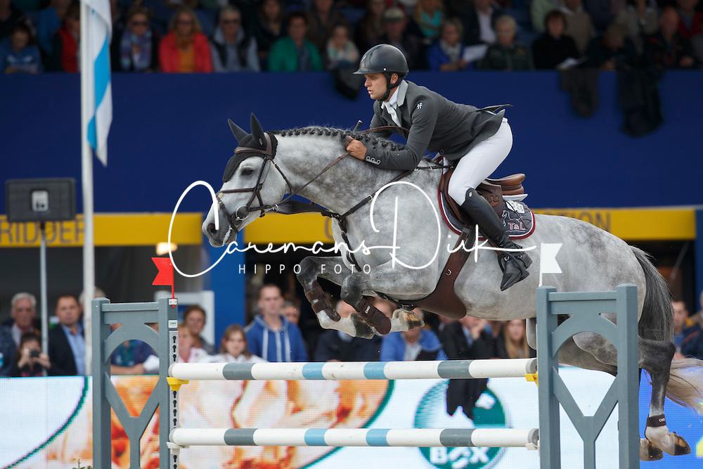 Vernaet Frederic (BEL) - Houston<br /> Final 7 years<br /> FEI World Breeding Jumping Championships for Young Horses - Lanaken 2014<br /> © Dirk Caremans