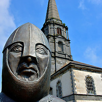 Strongbow Statue and Christ Church Cathedral in Waterford, Ireland<br />