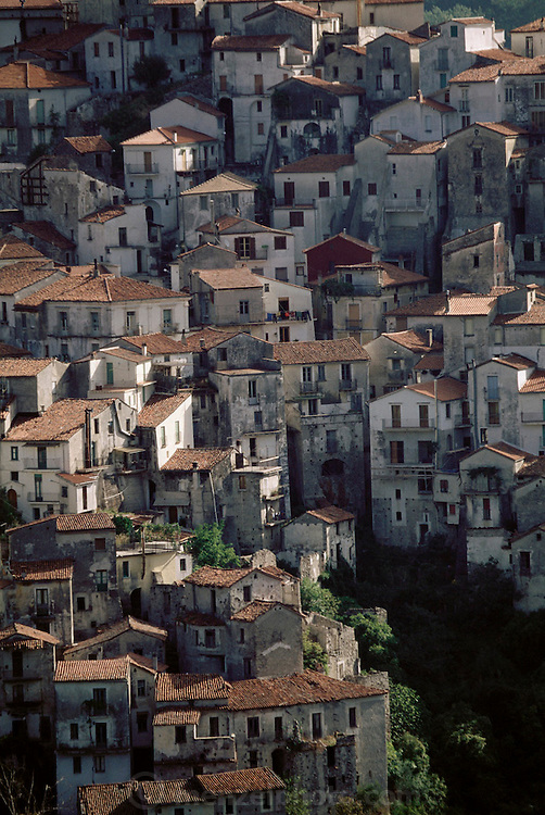 The hill town of Rivello, Basilicata, Italy.