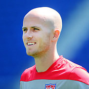 Michael Bradley during the US Mens National Team training at Red Bull Arena in preparation for Sunday's game against Turkey as they prepare for the 2014 FIFA World Cup. Red Bull Arena, Harrison, New Jersey, USA. 30th May 2014. Photo Tim Clayton