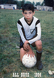 """CARLOS TEVEZ in his young years..Here file pictures form the personal album of CARLOS TEVEZ, in time he was a young player for the club """"ALL BOYS"""".© PikoPress"""