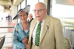 The DUKE & DUCHESS OF RICHMOND & GORDON at the 3rd day of the 2013 Glorious Goodwood racing festival - Ladies day at Goodwood Racecourse, West Sussex on 1st August 2013.