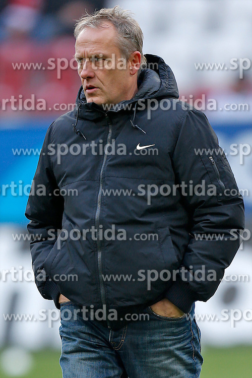 01.12.2012, SGL Arena, Augsburg, GER, 1. FBL, FC Augsburg vs SC Freiburg, 15. Runde, im Bild Trainer Christian Streich (SC Freiburg) // during the German Bundesliga 15th round match between FC Augsburg and SC Freiburg at the SGL Arena, Augsburg, Germany on 2012/12/01. EXPA Pictures © 2012, PhotoCredit: EXPA/ Eibner/ Peter Fast..***** ATTENTION - OUT OF GER *****