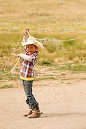 Rocky Boy Rodeo-kids-Indians-roping-Rocky Boy Reservation-Montana-Indian Cowboys, Kruv Ereaux, Gro Ventre, 5yr old
