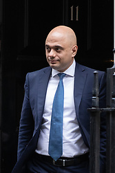 © Licensed to London News Pictures. 17/12/2019. London, UK. Chancellor of the Exchequer Sajid Javid leaving Downing Street after attending a Cabinet meeting this morning. Photo credit : Tom Nicholson/LNP