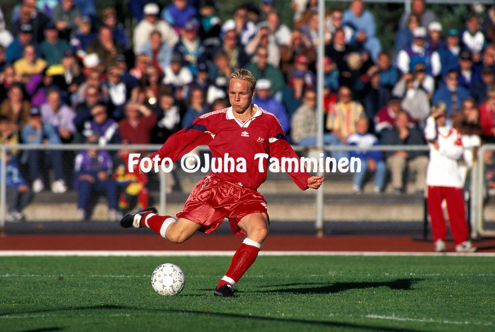 17.07.1996, Pori, Finland. .Ari-Pekka Roiko - FC Jazz Pori.©JUHA TAMMINEN