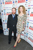 Melanie Masson and Forbes Masson, WhatsOnStage Awards Nominations - launch party, Cafe De Paris, London UK, 06 December 2013, Photo by Raimondas Kazenas