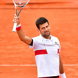 Novak Djokovic of Serbia celebrates after winning during Day 6 of the French Open 2018 on June 1, 2018 in Paris, France. (Photo by Dave Winter/Icon Sport)
