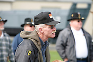 9th Cavalry Veterans listen to a dedication ceremony during the Gathering of Warriors reunion attended by Vietnam War Veterans of the 1st Squadron, 9th Cavalry, 1st Cavalry Divison.