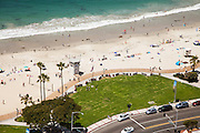 Main Beach Laguna Beach California Aerial Stock Photo