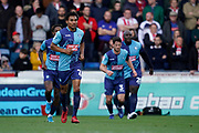 Goal, Darius Charles of Wycombe Wanderers scores, Wycombe Wanderers 1-0 Sunderland during the EFL Sky Bet League 1 match between Wycombe Wanderers and Sunderland at Adams Park, High Wycombe, England on 19 October 2019.