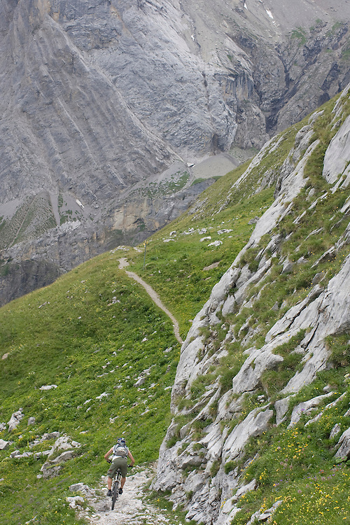 René Wildhaber on his supertrail from Cran-Montana to Saint-Leonard (Wallis, Switzerland)