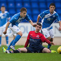 St Johnstone v Turriff Utd FC.. 02.08.16  IRN-BRU CUP 1st Round  <br />Jamie Docherty skips by Robert Allan<br />Picture by Graeme Hart.<br />Copyright Perthshire Picture Agency<br />Tel: 01738 623350  Mobile: 07990 594431