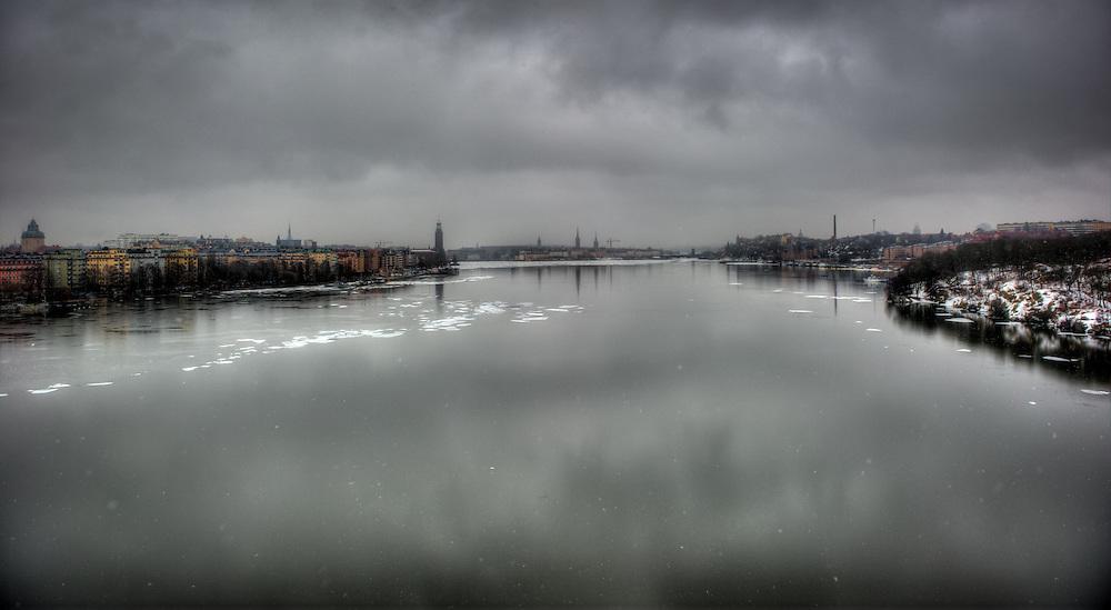 View from Västerbron over Riddarfjärden in Stockholm