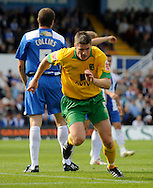 Hartlepool - Saturday August 29th, 2009: Michael Nelson of Norwich City wheels away after scoring during the Coca Cola League One match at Victoria Park, Hartlepool. (Pic by Jed Wee/Focus Images)..