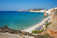 Grece, Cyclades, ile de Milos, plage de Firiplaka // Greece, Cyclades islands, Milos, Firiplaka beach
