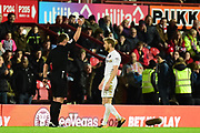 Leeds United midfielder Eunan O'Kane (14)yel` during the EFL Sky Bet Championship match between Brentford and Leeds United at Griffin Park, London, England on 4 November 2017. Photo by Dennis Goodwin.