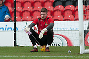Doncaster Rovers Goalkeeper Ian Lawlor (1) rests for a drink during warm up for the EFL Sky Bet League 1 match between Doncaster Rovers and Bristol Rovers at the Keepmoat Stadium, Doncaster, England on 27 January 2018. Photo by Craig Zadoroznyj.