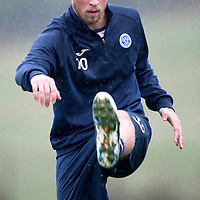 St Johnstone Training....21.09.15<br /> David Wotherspoon pictured during training at a very wet McDiarmid Park this morning<br /> Picture by Graeme Hart.<br /> Copyright Perthshire Picture Agency<br /> Tel: 01738 623350  Mobile: 07990 594431