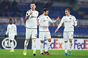 Michael Sollbauer of Wolfsberg celebrates after Florenzi autogoal during the UEFA Europa League, Group J football match between AS Roma and Wolfsberg AC on December 12, 2019 at Stadio Olimpico in Rome, Italy - Photo Federico Proietti / ProSportsImages / DPPI