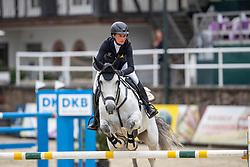 MUELLER Kathrin (GER), Emmely<br /> Nörten-Hardenberg - Burgturnier 2018<br /> Preis des Hardenberg GolfResort<br /> Eröffnungsspringen CSI3*<br /> Internationale Springprüfung (1,40 m)<br /> 17. Mai 2019<br /> © www.sportfotos-lafrentz.de/Stefan Lafrentz