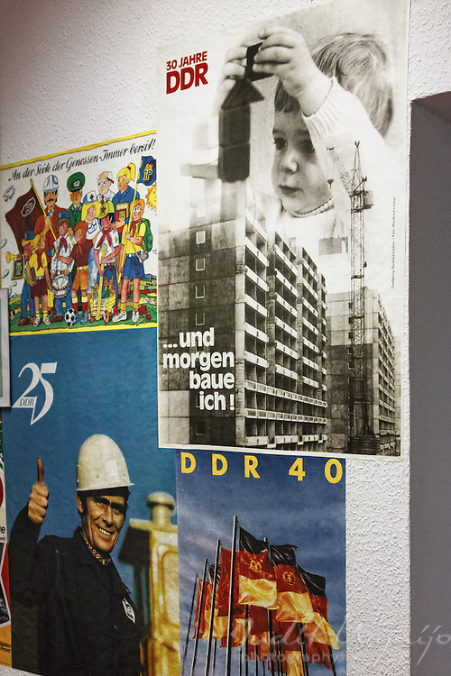 "Through posters, the socialist regime of the GDR ""sold"" the achievements of the system"