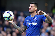 Chelsea Defender Emerson Palmieri during the Premier League match between Chelsea and Wolverhampton Wanderers at Stamford Bridge, London, England on 10 March 2019.