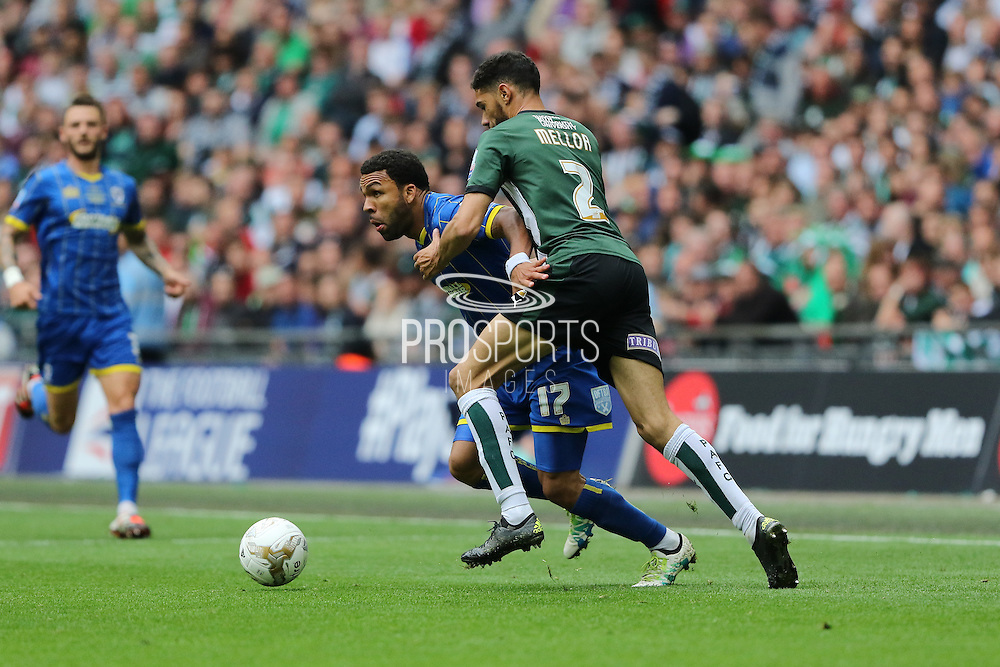Andy Barcham midfielder for AFC Wimbledon (17) during the Sky Bet League 2 play off final match between AFC Wimbledon and Plymouth Argyle at Wembley Stadium, London, England on 30 May 2016. Photo by Stuart Butcher.