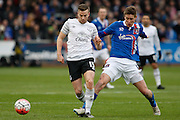 Everton midfielder Tom Cleverley   intercepting the ball during the The FA Cup fourth round match between Carlisle United and Everton at Brunton Park, Carlisle, England on 31 January 2016. Photo by Craig McAllister.